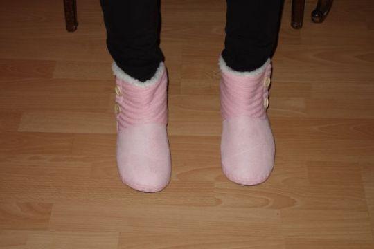 Zachte sloffen / Soft house shoes