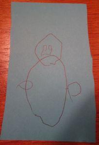 peuter-sneeuwpop / toddler's snow man