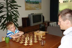 Samen schaken / Playing chess together