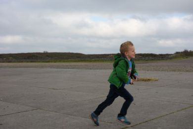 Rennen in de wind / Running in windy weather